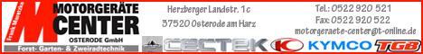 Banner MotorgerŠte Center Osterode