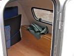 Beengt: Platzverhältnisse im Quad-Wohnwägelchen