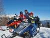 Motorschlitten: gefahren wird auf Ski-Doos mit Rotax-Triebwerken