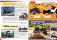 ATV&QUAD Magazin 2011/09-10, Seite 10-11, Aktuell: News & Trends  John Deere: Gator XUV 550 als Zwei- und Viersitzer New Holland: Rustler 120 Two und Four