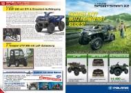 ATV&QUAD Magazin 2011/09-10, Seite 12-13, Aktuell: News & Trends Kawasaki: KVF 650 mit EFI & Einzelrad-Aufhängung Quadix: Trooper UTV 500 mit LoF-Zulassung