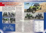 ATV&QUAD Magazin 2011/09-10, Seite 24-25,  Präsentation Arctic Cat WildCat 1000: Ultimativer Wüstenrenner