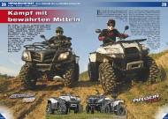 ATV&QUAD Magazin 2011/09-10, Seite 28-37,  Vergleichstest Dinli Centhor 700 vs. Explorer Argon 700: Kampf mit bewährten Mitteln