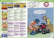 ATV&QUAD Magazin 2011/09-10, Seite 96-97, Szene: Termine: Quad-Treffen, Messen & Ausstellungen Cartoon: Aufgepasst beim Öl-Nachfüllen im Regen