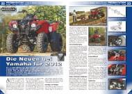 ATV&QUAD Magazin 2011/11-12, Seite 22-25, Präsentation Yamaha Grizzly 300 und YFZ 450: Die Neuen bei Yamaha für 2012