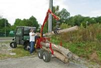 Holzrückewagen FT 14: ideal in Kombination mit einem ATV oder UTV