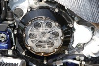 Bietet Einsicht: transparenter Kupplungsdeckel