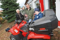Glück gehabt: Daniel Rosenbusch gewinnt Honda TRX420