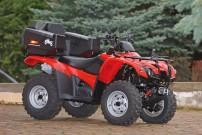 Hauptgewinn des ATV&QUAD Gewinnspiels 2011: Honda Rancher TRX420FA mit LoF-Zulassung und Tamarack-Topcase von AW Quadperformance im Gesamtwert von rund 10.000 Euro