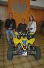 Die Champions beim ADAC Quad Slalom 2012: Sascha Hagmaier, Uwe Klos und Bettina Wilde