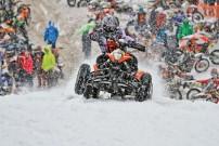 Snow SpeedHill Race in Eberschwang 2012: Wer in der Quad-Klasse das Ziel sehen wollte, musste schon auf einer KTM sitzen