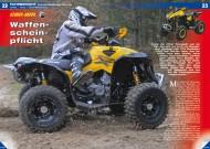 ATV&QUAD Magazin 2012/02, Seite 22-23; Fahrbericht Can-Am Renegade 1000 Xxc: Waffenschein-Pflicht