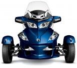 Can-Am Spyder Roadster RT-S: Den Reisedampfer gibt´s im Modelljahr 2012 auch in Blau-Metallic
