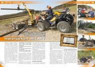 ATV&QUAD Magazin 2012/04, Seite 38-41, Einsatz: Holz rücken mit ATV