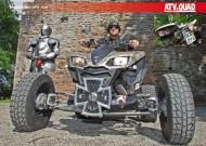 ATV&QUAD Magazin 2012/05, Seite 50-51, Poster Umbau Kawasaki KFX 700 PIMP von Mathias Mußgnug: Kreuz Ritter