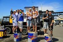 European Endurance Day 2012, Podium Prestige-Class: Meier / Ristenbieter / Altmann vor Richter / Junker / Strandt und Schürer / Schürer