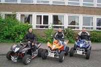 1. QuadClub Schüttorf: Gründungs-Mitglieder Marco Lemke, Holger Kerkhoff und Lars Kerkhoff