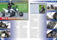 ATV&QUAD Magazin 2012/07-08, Seite 40-43, Umbau Yamaha Cosa Nostra Raptor: Des Mods Rappen
