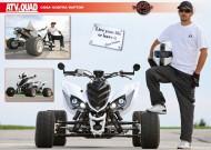 ATV&QUAD Magazin 2012/07-08, Seite 42-43, Poster Yamaha Cosa Nostra Raptor: Des Mods Rappen