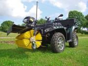 Quad Handel Quern, Kehrbesen für ATVs: Aufnahme kompatibel mit Warn-Anbausätzen