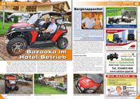 ATV&QUAD Magazin 2012/09-10, Seite 44-45, Einsatz BergknappenHof: Bazooka im Hotel-Betrieb
