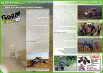 ATV&QUAD Magazin 2012/09-10, Seite 74-75, Szene Rennsport, GORM 24-Stunden-Rennen: Platz 3 für das Team Polaris Germany