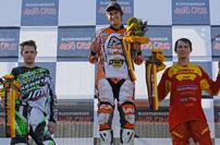 DMX 2012, 6. Rennen in Rudersberg, Siegerehrung 2. Lauf: Maessen, Schreiber, Freund