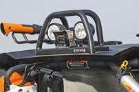 Quad Stadel Schwab, Umbau Can-Am Commander 1000 LTD: ferngesteuerte Heck-Kamera mit Arbeitsscheinwerfern