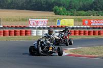 Austrian SuperMoto Quad Masters 2012: Martin Tauber vor Oliver Babun
