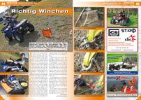 ATV&QUAD Magazin 2013/01-02, Seite 44-45, Service: Richtig Winchen, Teil 1