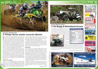 ATV&QUAD Magazin 2013/01-02, Seite 74-75, Szene Schweiz; Schweizer Meisterschaft: Philipp Tanner wieder souverän Meister; Conrey Offroad Technik: 4x4 Buggy & Winterdienst-Access