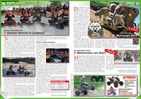ATV&QUAD Magazin 2013/01-02, Seite 76-77, Szene Rennsport; Schnee SpeedWay Cup: Zweiter Streich in Leutasch; Authentic Spirit: 7. Wolfsjagd 2013; SnowSpeedHill Race: Weltmeister am Start