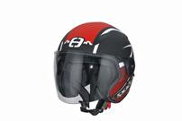 Speeds Bekleidung, Jet-Helm 'City': in matt-roter Soft-Touch-Lackierung