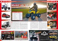 ATV&QUAD Magazin 2013/03-04, Seite 20-21, Service Führerschein Klasse AM: Mobil ab 16