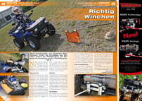 ATV&QUAD Magazin 2013/03-04, Seite 44-45, Service: Richtig Winchen, Teil 2