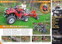 ATV&QUAD Magazin 2013/03-04, Seite 46-47, Einsatz ATV beim Holzrücken: Hau Ruck Honda