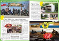 ATV&QUAD Magazin 2013/03-04, Seite 64-65, Szene Deutschland PLZ 9, Pullman City Eging: Das Quadtreffen in der Westernstadt; Tom´s Motorradladen: Show-Trailer