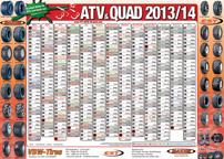 ATV&QUAD Magazin 2013/03-04, Vorderseite Kalenderposter im Mittelaufschlag