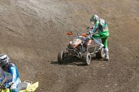 DMX Deutsche MotoCross Quad Meisterschaft 2013, 3. Lauf in Kamp Lintfort, gestrandet: Peter Steegmans