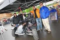 Erste Präsentation von Rage Motorsport in Deutschland: Antony Allsop (Hersteller), Lars Maureschat (Vertrieb Deutschland), Chris Geary (Test-Pilot), Walter Spitaler (Rennfahrer)
