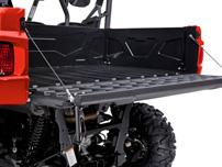 Yamaha Viking: Ladefläche mit vier Zurrösen und breiter Heckklappe