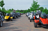 Scholly´s 6. Can-Am Spyder Roadster Treffen vom 14. bis 16. Juni 2013: Ausfahrt mit mehr als 50 Can-Am Spyder Roadstern