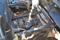 Kubota RTV 500, Modell 2013: Zweizylinder-Motor unter der Ladefläche