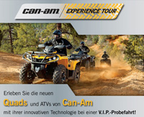 Can-Am Experience Tour 2013: Testfahrten mit Can-Am ATVs und Side-by-Sides