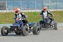 Austrian SuperMoto Quad Masters 2013, Finale in Melk: Oliver Babun hält Michael Haidl im 1. Rennen auf Distanz