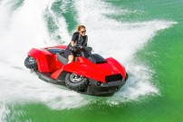 Deutschland Import für Gibbs Quadski: im Wasser zieht das Quadski seine Räder ein