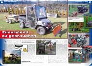 ATV&QUAD Magazin 2014/01-02, Seite 44-47; Präsentation Agrar & Forst Ausrüstung und Fahrzeuge: Zunehmend zu gebrauchen