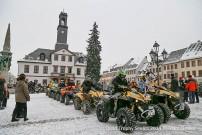 Quad Trophy Rochlitz 2014: Start am Markt in Rochlitz
