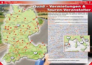 ATV&QUAD Magazin 2014/03-04, Seite 6-7: Quad-Vermietungen & Touren-Veranstalter
