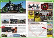 ATV&QUAD Magazin 2014/03-04, Seite 72-73, Szene Deutschland PLZ 7 / 8; Team Diel: Monster Energy Raptor; Quadconnection: Hausmesse 2014 in Garmisch-Partenkirchen und Schwangau; Initiative Glückliche Kinderherzen: Kinder-Quadausfahrt 2014